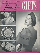 Clark's Bk 255 Ideas for Gifts 1949 Crocheting Hats Hotpads Doilies Patterns