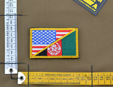 """Ricamata / Embroidered Patch """"USA / Afghanistan"""" with VELCRO® brand hook"""