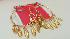 Valentines Day Juicy Couture Multi Feather Hoop Earrings YJRU7962