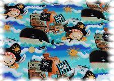 Little Pirat Stretch-Jersey türkis Baumwolle Shirtstoff Digitaldruck 50 cm