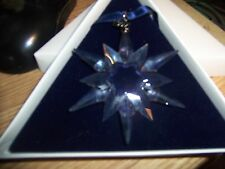 SWAROVSKI CRYSTAL 1997 CHRISTMAS ORNAMENT SNOWFLAKE IN BOX
