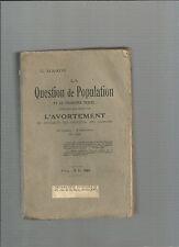 La Question de Population et le problème sexuel contenant étude sur avortement 3