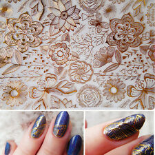 1 Sheet Embossed 3D Nail Art Stickers Rose Flower Nail Decals Decoration #BP054