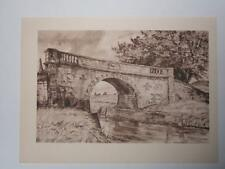 Print Lady Bridge Wilcot Wiltshire by Vincent Lines RWS 1947