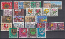 Switzerland 7 complete series + 3 single stamps + 3 stamps 1977-1978 USED
