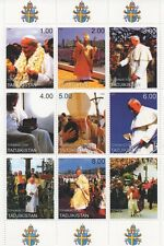 PAPA GIOVANNI PAOLO II Religione Cattolica immagini PAPALE 1999 MNH STAMP SHEETLET