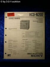 Sony Service Manual HCD N200 Component System (#0717)