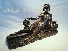 Art Deco Style Egyptian Queen Lying On The Chaise Lounge Statue Figure Sculpture