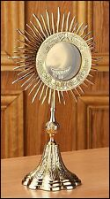 "Grapes & Wheat Monstrance Reliquary With Luna, 14"" High"