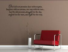 God Did Not Promise Days Without Pain- Quote Me Printing Wall Decor Sticker #893