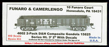 LMH Funaro F&C 4602 DELAWARE & HUDSON Gondola  D&H Wood Side   TWO (2) CAR KIT