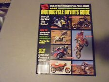 1995 MOTORCYCLE BUYERS GUIDE,300 MODELS ,PRICED,SPECS,DIRT,STREET,25 1995 TESTS
