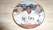 "1987 Baseball Mini Plate - ""Mickey, Willie & The Duke"" - Mantle / Mays / Snider"