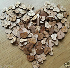 100pcs Rustic Wooden Love Heart Wedding Table Scatter Decoration Crafts Gift
