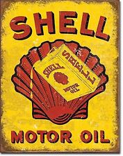 SHELL OILS/ MOTOR OIL, 16x12 INCH RETRO METAL SIGN 40x30cm,GARAGE/SHED/PETROL