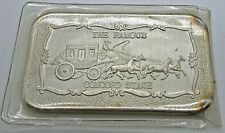 The Famous CONCORD STAGE Mother Lode Mint 1 oz .999 Fine Silver Art Bar