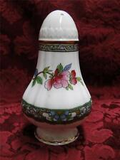 "Paragon Tree of Kashmir, Floral on White, Gold Trim: Pepper Shaker, 3.5"",5 Holes"