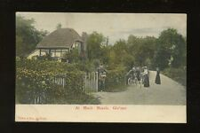Gloucestershire MUCH MARCLE Village scene Postman Cyclists 1905 PPC crease