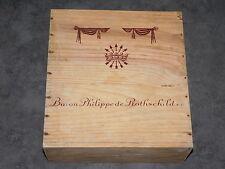 CAISSE EN BOIS BARON PHILIPPE DE ROTHSCHILD S.O. CAISSON DE VIN DECO LOFT CAVE