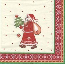 2 serviettes en papier Père Noël Decoupage Paper Napkins Santa Christmas Bakery