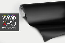 "VViViD XPO Black Matte finish vinyl car wrap 3"" x4"" sample decal 3mil film sheet"