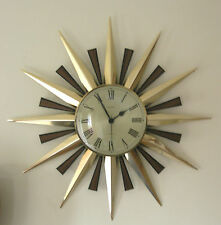 Fab Iconic 1960's / 70's Metamec Sunburst Clock Great Condition & Working Order