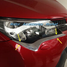 New Chrome Front Light Eyelid Trim For Toyota RAV4 2013 2014 2015
