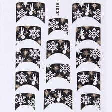 Nail Art Decal Stickers Glitter Nail Tips Christmas Angel Snowflake Winter JC018