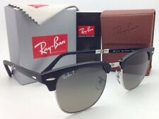 Polarized RAY-BAN CLUBMASTER Folding Sunglasses RB 2176 901-S/M8 Black with Grey