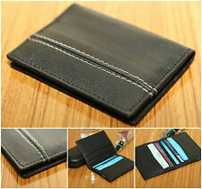 MEN'S LUXURY QUALITY REAL LEATHER CREDIT CARD CASE WALLET ID/OYSTER CARD HOLDER