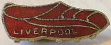 LIVERPOOL Vintage 1970 80s badge Maker COFFER LONDON Brooch pin Gilt 36mm x 14mm