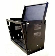 "Wall Mount Drop Front 19"" Network IT Data Cabinet Rack 12"" Deep - 8U - Black"