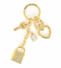 NEW Juicy Couture Key Ring fob Purse Charm Padlock Key
