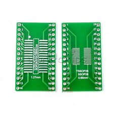 10PCS SOP28 SSOP28 TSSOP28 to DIP28 Adapter Converter PCB Board 0.65 1.27mm