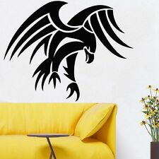 Wall Room Decor Art Vinyl Sticker Mural Decal Tribal Bird Hawk Eagle FI539