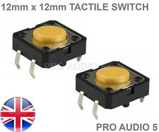 2x Omron 12mm X 12mm Táctil Switch-Akai 1000, 2000, 2000xl, 4000-tacto del Reino Unido