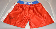 RARE SIGNED BOXING SHORTS TRUNKS FRANK BRUNO (VS MIKE TYSON) AUTOGRAPH COA PROOF