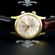 Classy 1960's OLLECH & WAJS Swiss Vintage Alarm Dress Watch 17j AS Cal. 1475