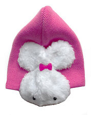Baby Hat 100% Cotton Warm Double-Lined + Bunny Ear Muffs 6 -12 months