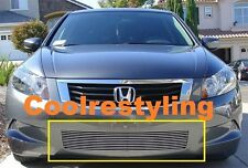 FOR 2008 2009 2010 Honda Accord Sedan Bumper Billet Grille overlay insert
