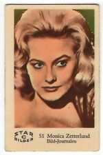 1950s Swedish Film Star Card Star Bilder C #51 Singer Actress Monica Zetterlund