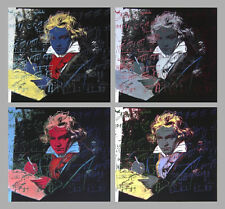 Beethoven X 4 by Andy Warhol Art Print Poster 1998 Offset Lithograph 38x38