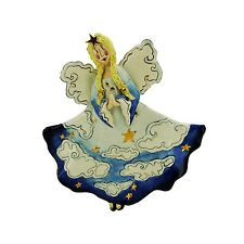 Evening ANGEL Wall Plaque Blue Sky Clayworks Heather Goldminc New in Box