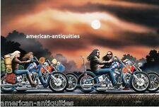 Dave David Mann Biker Art Motorcycle Poster Print Easyriders His and Hers