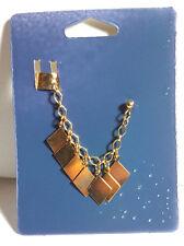 Star Trek Bajoran Style Fancy Earring w Cuff- Gold w 7 Diamond Shapes (EAR-04)