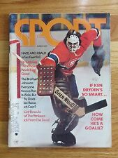 KEN DRYDEN Sport Mar 1973 MONTREAL CANADIENS If so smart How Come he's is Goalie