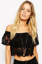 Boldgal Black T-shirt Tank Cami Western Blouse Women Short Crop Top