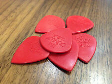 6 x Red Jim Dunlop Jazz 3 111 Eric Johnson Picks / Plectrums Made In USA