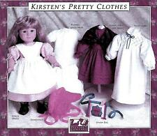 SEWING PATTERN! KIRSTEN'S PRETTY CLOTHES! PLEASANT COMPANY! AMERICAN GIRL! NEW!