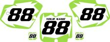 1988 Kawasaki KX500 Custom Pre Printed White Backgrounds with Green Shock Series